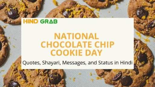National Chocolate Chip Cookie Day Quotes in Hindi