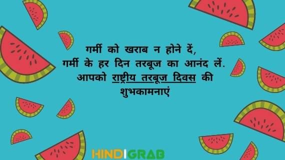 National Watermelon Day Quotes in Hindi